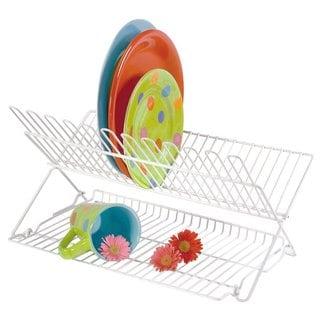Folding Dish Rack  - White