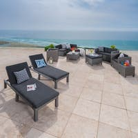Puerta Outdoor 13-piece Wicker Patio Set with Cushions by Christopher Knight Home