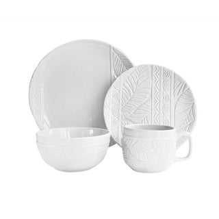 American Atelier Palm Earthenware Dinnerware Set (Case of 16)  sc 1 st  Overstock.com & Earthenware Dinnerware For Less | Overstock.com