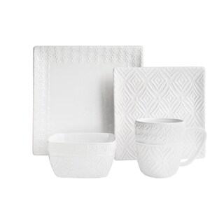 American Atelier Jasmin White 16-piece Dinnerware Set