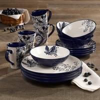 American Atelier Floral Indigo 16-piece Dinnerware Set