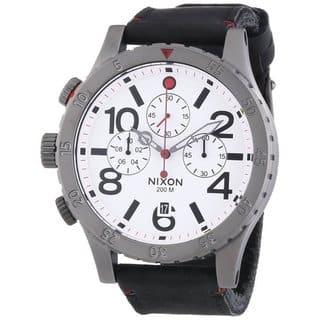 Nixon Men's A363486 48-20 Chrono Leather Watch https://ak1.ostkcdn.com/images/products/14523201/P21077246.jpg?impolicy=medium