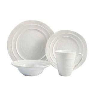 American Atelier Travertine White Earthenware 16-piece Dinnerware Set