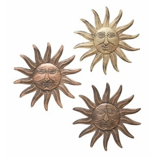 Metal Sun Wall Decor (Pack of 3)