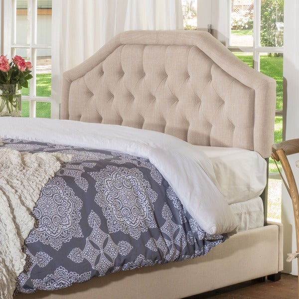 Earlton Adjule King California Tufted Fabric Headboard By Christopher Knight Home