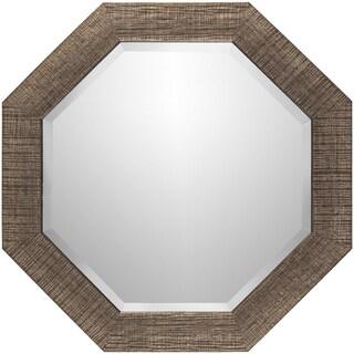 Angline Crosshatch Wall Mirror (24 x 24) - Copper