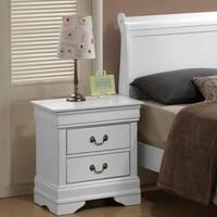 LYKE Home White 2-drawer Nightstand