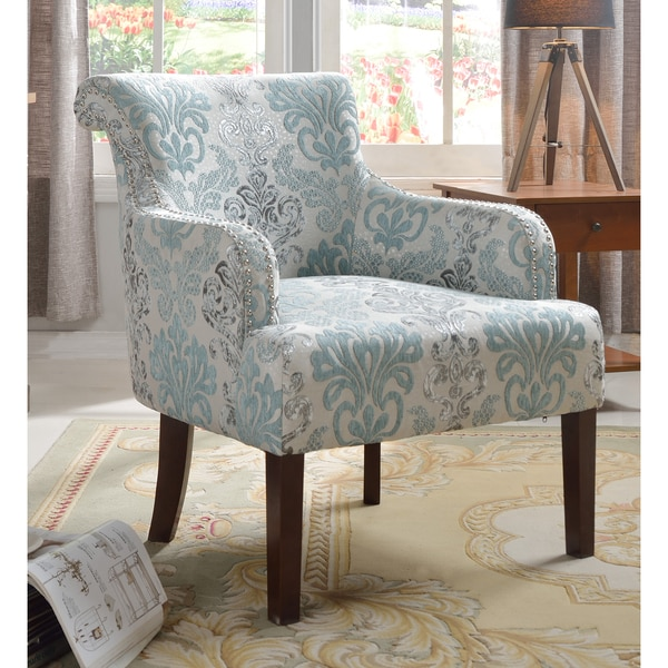 Shop Best Master Furniture Teal And Light Blue Accent Chair Free