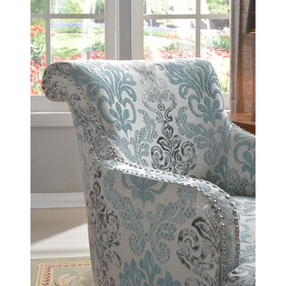 Best Master Furniture Teal and Light Blue Accent Chair