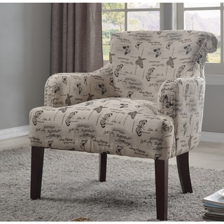 Best Master Furniture Sandy Grey Fabric Accent Chair