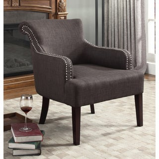 Best Master Furniture Charcoal Grey Accent Arm Chair