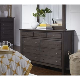 City II Basalt Gray 9-drawer Dresser
