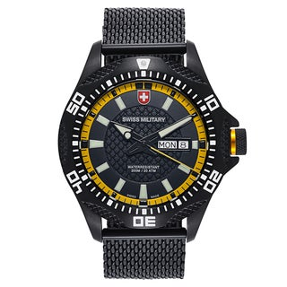 Swiss Military Tank 2744 Black Strap with Black Dial Stainless Steel Black PVD Coated Men's Watch