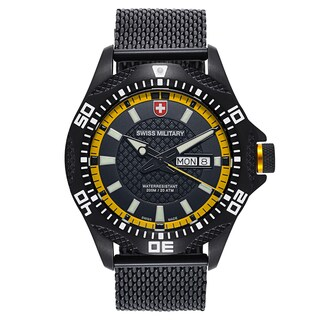 Swiss Military Tank Black Strap with Black Dial Stainless Steel Black PVD Coated Men's Watch