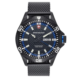 Swiss Military Tank 2742 Men's Black Strap with Black Dial Stainless-steel Black PVD-coated Watch
