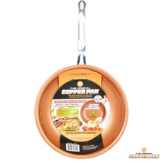 Original Copper Pan Bronze Copper 10-inch Round Nonstick Fry Pan