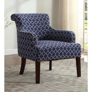 Best Master Furniture Blue/and White Accent Arm Chair