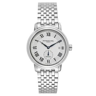 Raymond Weil Maestro Silvertone Stainless Steel Men's Watch https://ak1.ostkcdn.com/images/products/14523370/P21077383.jpg?impolicy=medium