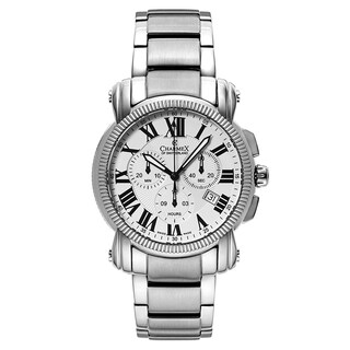 Charmex Men's Aspen 2455 Silver Strap with White Dial Stainless Steel Watch