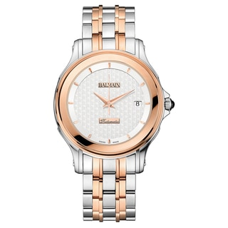 Balmain Eria Stainless Steel/PVD Silver and Rose Gold Strap with Silver Dial Watch