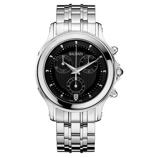 Balmain Eria B68613366 Men's Silver Strap with Black Dial Stainless Steel Watch