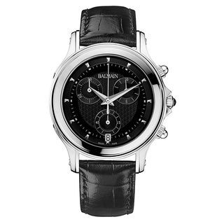 Balmain Eria Black Leather and Stainless Steel Men's Watch