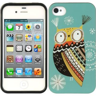 Insten Blue/ Brown TPU Rubber Candy Skin Case Cover For Apple iPhone 4/ 4S