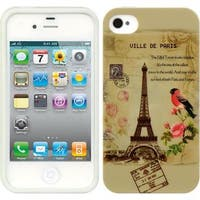 Insten Light Brown TPU Rubber Candy Skin Case Cover For Apple iPhone 4/ 4S