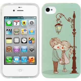Insten Light Blue TPU Rubber Candy Skin Case Cover For Apple iPhone 4/ 4S
