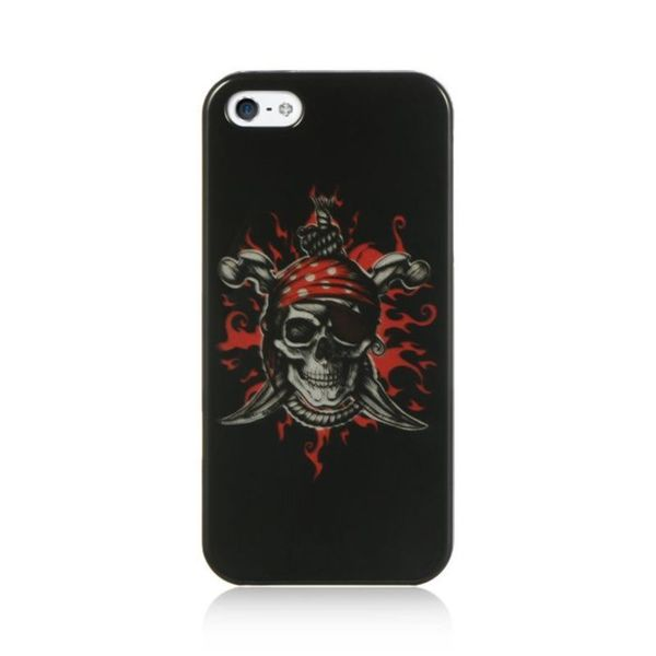 Insten Black/ Red Hard Snap-on Case Cover For Apple iPhone 5/ 5S/ SE