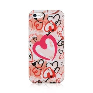 Insten Pink/ Red Hard Snap-on Case Cover For Apple iPhone 5/ 5S/ SE