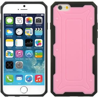 Insten Pink/ Black Hard Snap-on Case Cover For Apple iPhone 6/ 6s