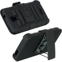 Insten Black Hard Snap-on Dual Layer Hybrid Case Cover with Stand/ Holster For Alcatel One Touch Pop Astro