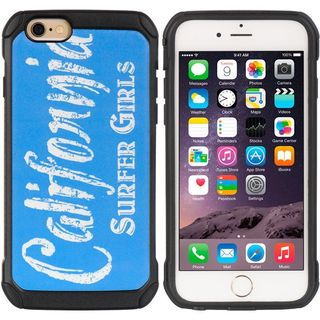 Insten Blue/ White Hard Snap-on Dual Layer Hybrid Case Cover For Apple iPhone 6/ 6s