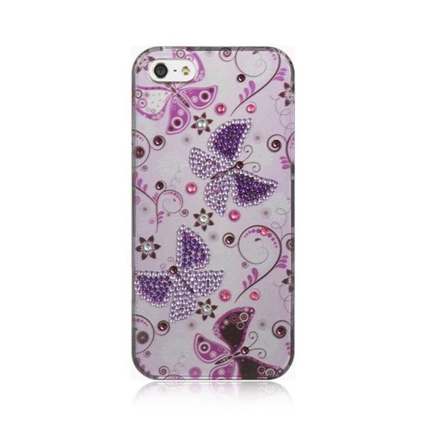 Insten Purple Hard Snap-on Case Cover with Diamond For Apple iPhone 5/ 5S/ SE