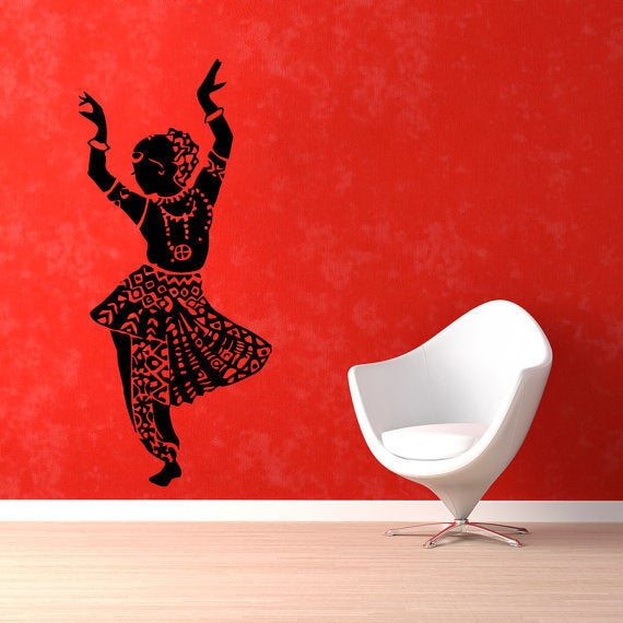 Shop Belly Dance Girl Dancer Gym Dance Studio Vinyl Sticker Home Interior Design Art Mural Wall Sticker Decal Size 22x35 Color Black Overstock 14529815