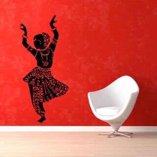 Belly Dance Girl Dancer Gym Dance Studio Vinyl Sticker Home Interior Design Art Mural Wall Sticker D