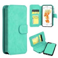 Insten Leather Case Cover Zipper wallet with Stand/ Wallet Flap Pouch/ Photo Display For Apple iPhone 7