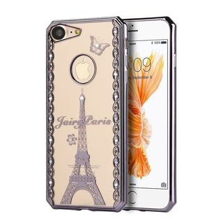 Insten Fairy Paris TPU Rubber Candy Skin Case Cover with Diamond For Apple iPhone 7