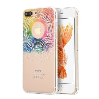 Insten Colorful/ Clear Love wins TPU Rubber Candy Skin Case Cover For Apple iPhone 7 Plus