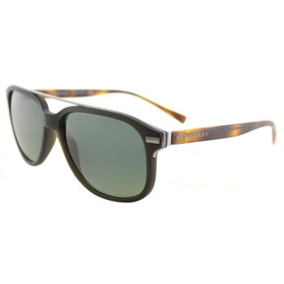 Burberry BE 4233 3620T4 Matte Green Plastic Square Sunglasses Green Gradient Polarized Lens