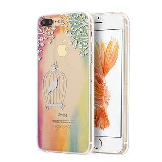 Insten Colorful/ Clear Juliet TPU Rubber Candy Skin Case Cover For Apple iPhone 7 Plus