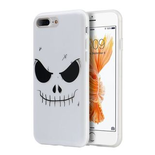 Insten White/ Black Evil mind TPU Rubber Candy Skin Case Cover For Apple iPhone 7 Plus