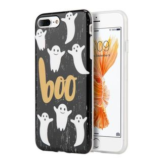 Insten Black/ White Boo TPU Rubber Candy Skin Case Cover For Apple iPhone 7 Plus