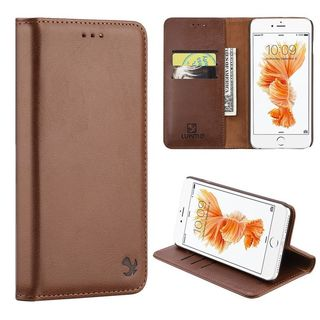 Insten Brown Leather Case Cover Magnetic with Stand/ Wallet Flap Pouch For Apple iPhone 7 Plus