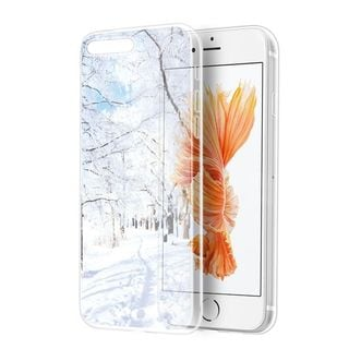 Insten White/ Clear Wonderland TPU Rubber Candy Skin Case Cover For Apple iPhone 7 Plus