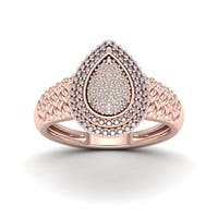 De Couer 1/10ct TDW Diamond Engagement Ring - Pink