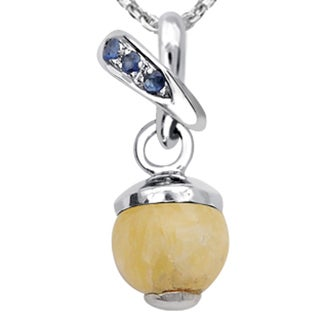 Orchid Jewelry 925 Sterling Silver 6 1/7 Carat Multi Gemstones Pendant Necklace