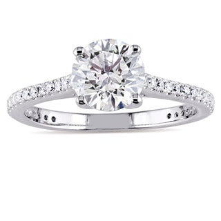 Miadora Signature Collection 14k White Gold 1 1/5ct TDW Diamond Engagement Ring