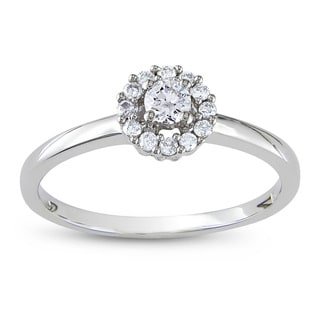 Miadora Signature Collection 10k White Gold 1/4ct TDW Diamond Engagement Ring